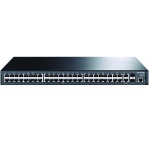 TP-LINK 48+4G Gigabit-Uplink Managed Switch, 48x 10/100M RJ45, 2x Gbe RJ45, 2x SFP Expansion