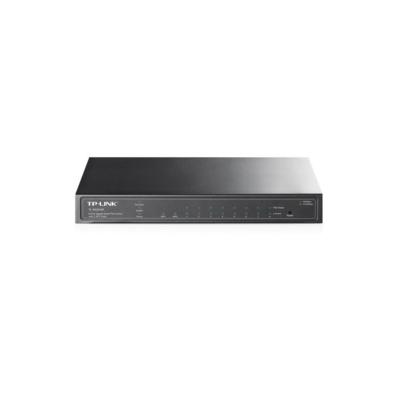 TP-Link TL-SG2210P 8-Port Gigabit PoE Smart Switch with 2 SFP Slots - GeeWiz
