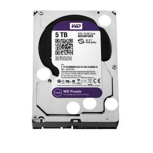 """WD Purple 5TB Surveillance Hard Disk Drive - 5400 RPM Class SATA 6 Gb/s 64MB Cache 3.5"""""""