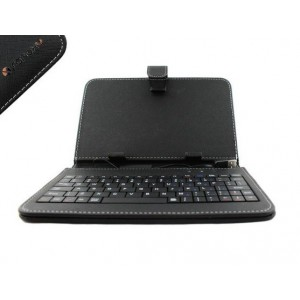Universal 7'' Folio-Type Case W/BT Keyboard - Black