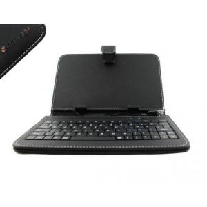 Universal 7'' Folio-Type Case W/BT Keyboard - Black