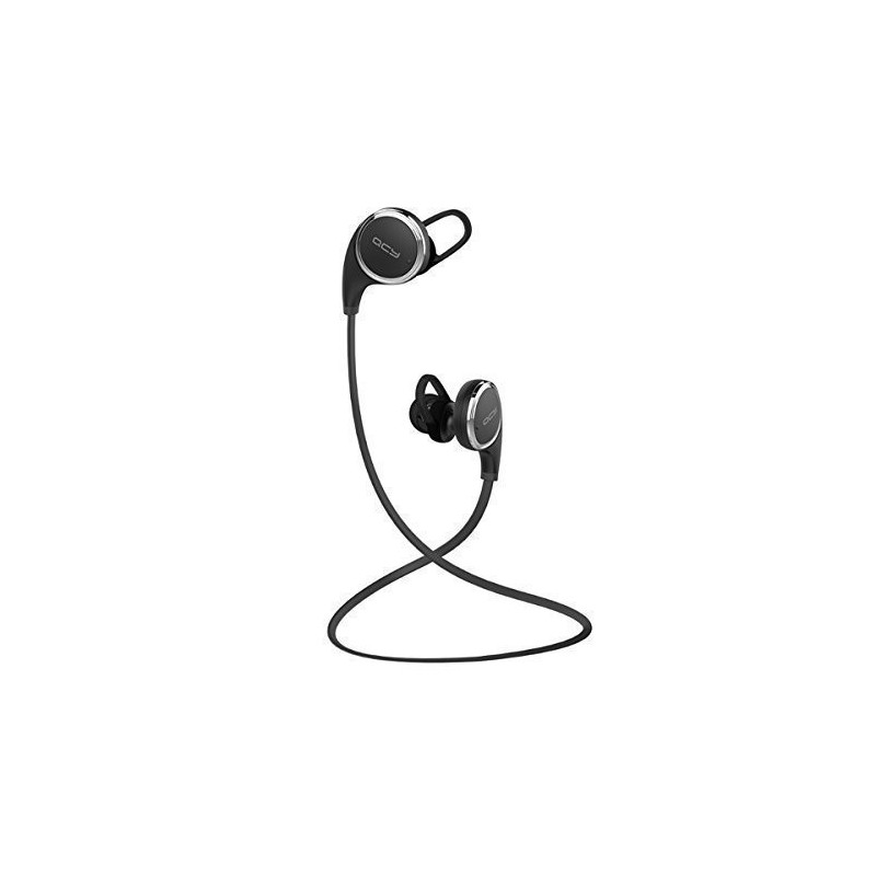 QCY QY8 Mini Bluetooth 4 1 Headphones with Microphone for iPhone, iPad,  Samsung and Android Smartphone - Black - GeeWiz