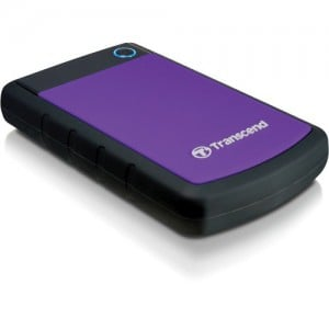 Transcend 1TB StoreJet 25H3P Anti-Shock External Hard Drive (Purple)