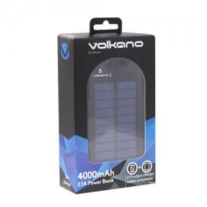 Volkano Solar Series 4000mAh Power Bank