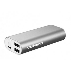 Volkano Steel Series Power Bank 6400mAh - Silver