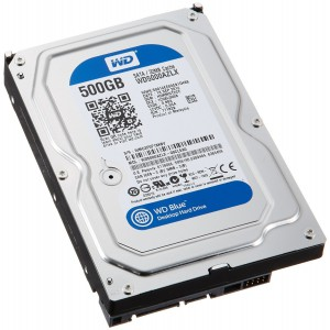 "Western Digital Blue WD5000AZLX 500GB 7200 RPM 32MB Cache SATA 6.0Gb/s 3.5"" Internal Hard Drive Bare Drive"