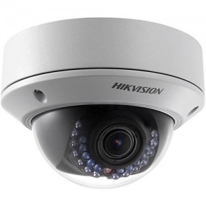 Hikvision 4-MP Vari-focal IR Network Dome Camera: 2.8~12mm @ F1.4, IR LEDs: 15m, Audio I/O, Alarm I/O, Micro SD Card, IP68