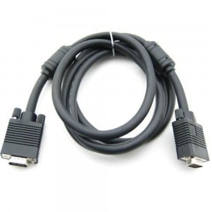 VGA Cable Black 1.8M M-M for TV Computer Monitor