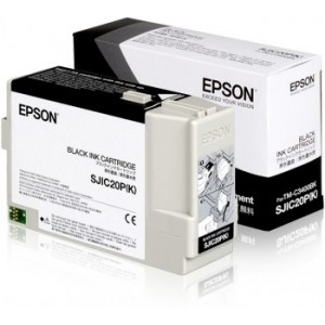 Epson TM-C3400BK-USB Ethernet Cutter Label Printer Black Ink Cartridge