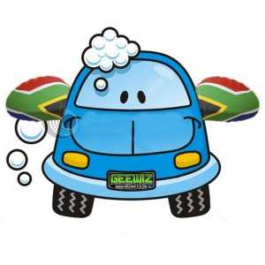 SA Car Mirror Flag Sock - Show your support for Mandela!