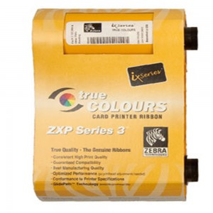 Zebra ZXP 3 White Monochrome Ribbon (850 Prints) for printing text and one-color line art on cards