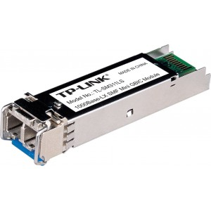 TP-LINK Gigabit SFP Module, Single-mode, MiniGBIC, LC Interface, Up to 10km Distance