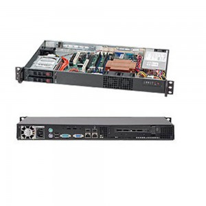 Supermicro SC510T-203B 1U Mini Chassis- Black