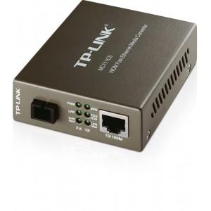 TP-LINK MC111CS WDM Media Converter, 10/100Mbps RJ45 to 100M single-mode SC fiber, Tx:1550nm, Rx:1310nm