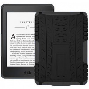 Kindle Paperwhite 2015 Cover Case - Heavy Duty Rugged Dual Layer with Kickstand - Black