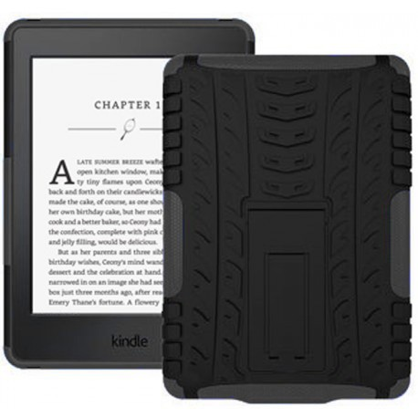 afe7ec182a3 Kindle Paperwhite 2015 Cover Case - Heavy Duty Rugged Dual Layer with  Kickstand - Black - Kindle