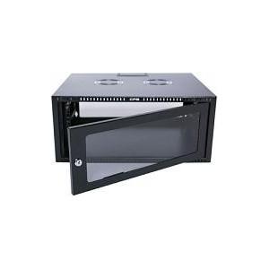 15U CP Black Wall Mount Cabinet 2x Uprights 2x GL