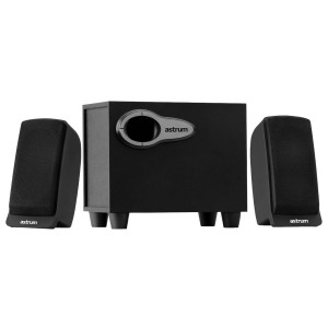 Astrum A213 Laptop/Desktop Speaker(Black, 2.1 Channel)