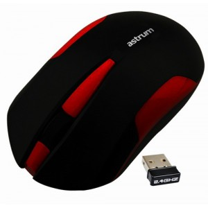 Astrum Aero Wireless Mouse 3 buttons 1000dpi HD Optical 2.4Ghz up to 10 meter