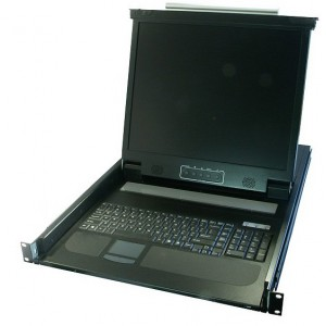 17'' LCD KVM 1U with Integrated KB & Track Pad