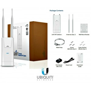 Ubiquiti UniFI AP Outdoor+ Wi-Fi 802.11 b/g/n, 2.4 GHz , speed upto 300 Mbps