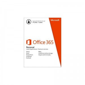 Microsoft Office 365 Personal 32/64Bit English 1 Year Subscription South Africa only EM Medialess / Single user license