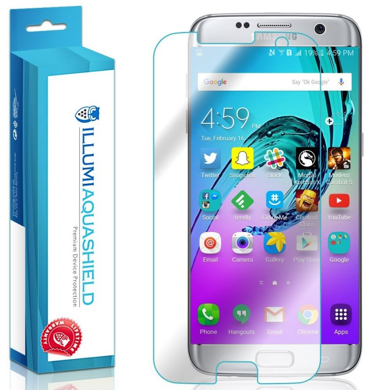huge discount b1e05 278b7 ILLUMI AquaShield (2-Pack) Screen Protector for Samsung Galaxy S7 EDGE  (FULL screen/edge coverage) - GeeWiz
