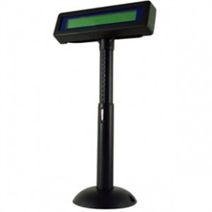 Posiflex PD-320 Customer Pole Display available in Black with Blue LCD Display, Poweerd USB Interface with Virtual Com Port