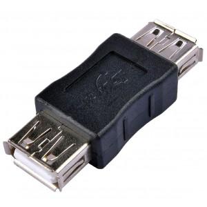 PASSIVE ADAPTER USB - USB F-F EXTENSION BLACK
