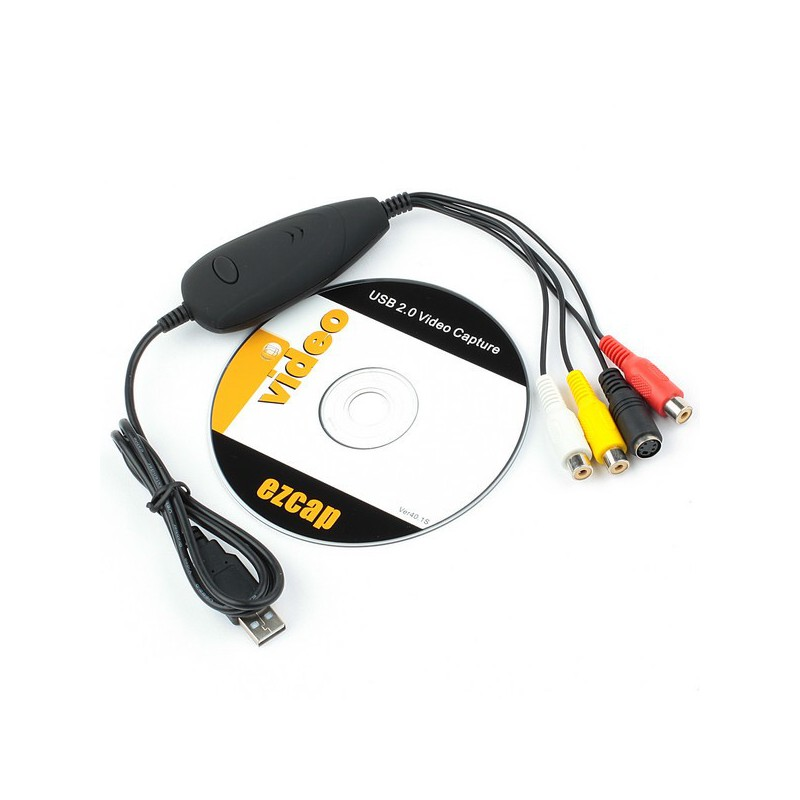 Easycap USB Video Capture Card (Converts VHS & Camera to DVD) EzCap 172