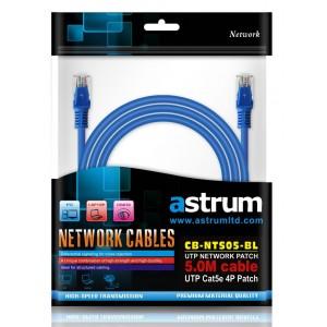 NETWORKING CABLE 5.0M CAT5E STR BLUE