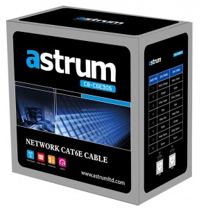 Astrum CAT6 Network Cable 305m Pullout Box Pack