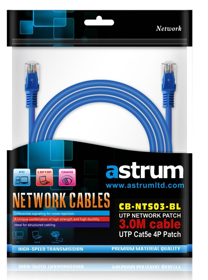 Astrum Network Patch Cable 3 Meter Straight Machine Crimping
