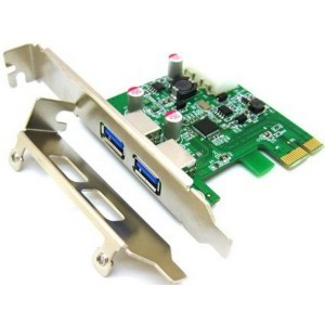 Mecer PCIe 2 Port USB 3.0 Adaptor Card W/LP Bracket