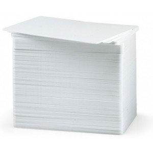 104523-111 Zebra Premier (PVC) Blank White Cards (500 Pack)