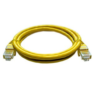 1M UTP Cat5e Flylead Yellow