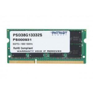 Patriot SL 8GB 1333MHz DDR3 SO Dimm DS Memory