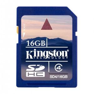 Kingston 16GB Secure Digital High Capacity (SDHC) Class 4 Flash Cards