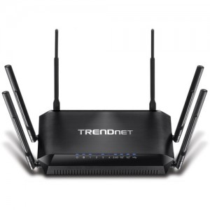 TRENDnet AC3200 Dual Band Wireless AC Router 4 Gb LAN 1 Gb WAN 1 USB Streamboost