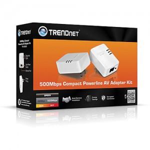 TRENDnet 500Mbps Powerline AV Ethernet Adapter Kit 1 LAN