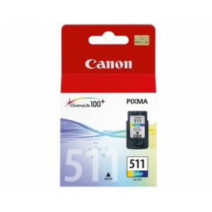 Canon CL-511 Colour Cartridge with yield of 244 pages