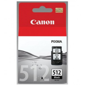 Canon PG-512 Black Cartridge with yield of 401 pages