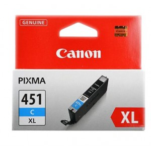 Canon CLI-451XL Cyan Cartridge with yield of 665 pages