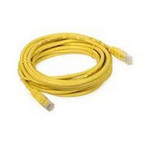 KRONE CAT5E UTP PATCH CORD YELLOW 1M MOULDED