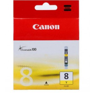 Canon CLI-8 Yellow Cartridge with yield of 291 pages