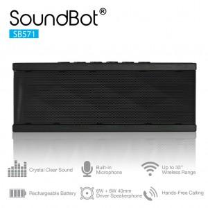 SoundBot SB571 Bluetooth Wireless Speaker - Portable Speakerphone For Music Streaming & Handsfree Calling