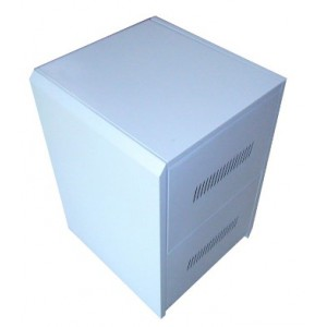 C6 Steel Battery Cabinet - Holds 6x 100Ah batteries (incl circuit breaker)