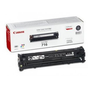 Canon 716 Black Cartridge with yield of 2300 pages