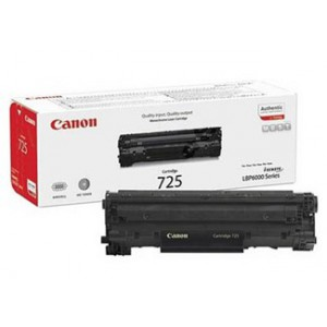 Canon 725 Black Cartridge with yield of 1600 pages