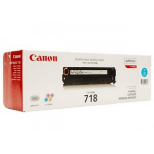 Canon 718 Cyan Cartridge with yield of 2900 pages